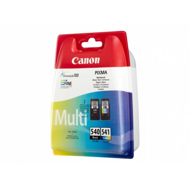 Canon PG 540 / CL-541 Multipack Sort Farve (cyan, magenta, gul)