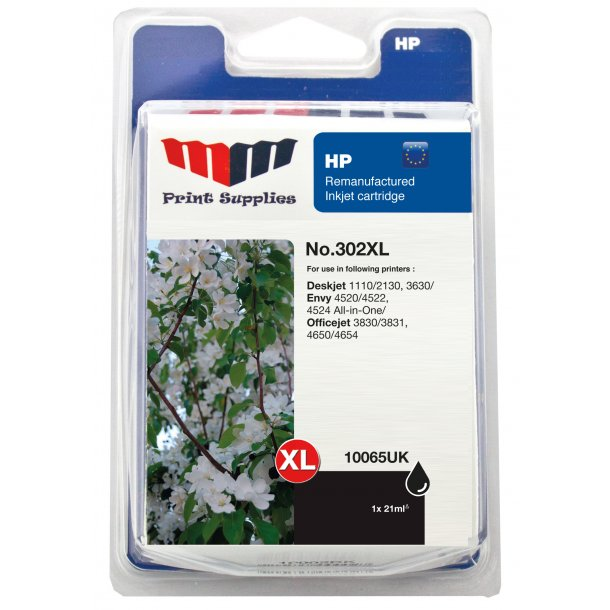 MMPS Black Inkjet Cartridge No.302XL - kompatibel HP