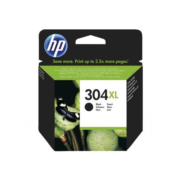 HP 304XL Sort 300 sider