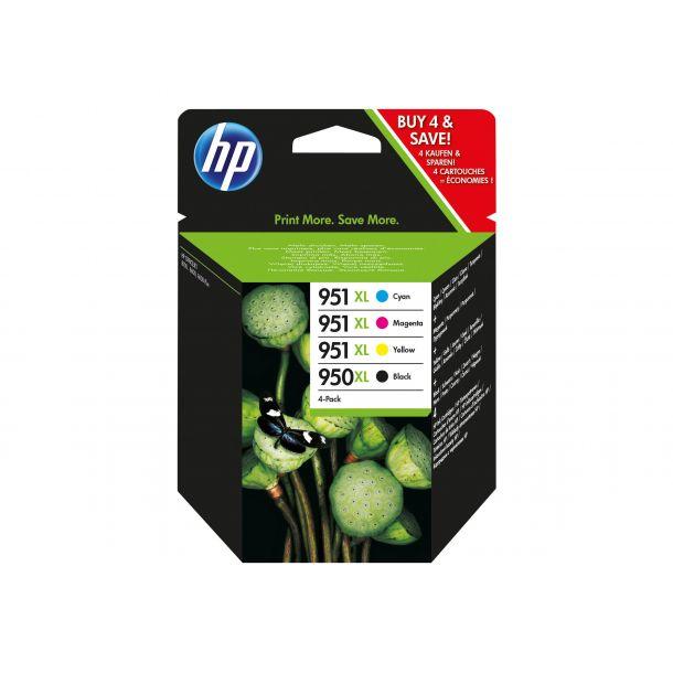 HP 950XL/951XL Combo Pack Sort Gul Cyan Magenta