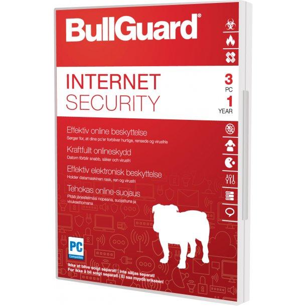 BullGuard Internet Security - Nordic Softbox 1Y/3PC
