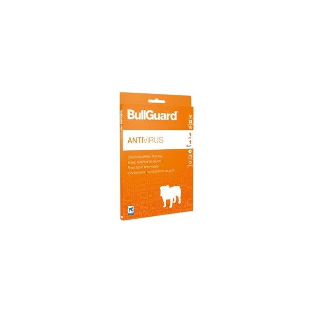 BullGuard Antivirus 2017 - 1Y/1U WIN only ESD only Key