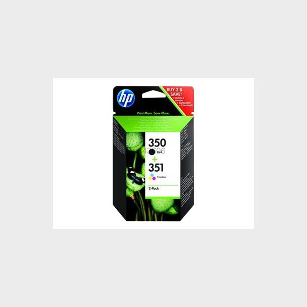 HP 350/351 Sort Farve (cyan, magenta, gul)