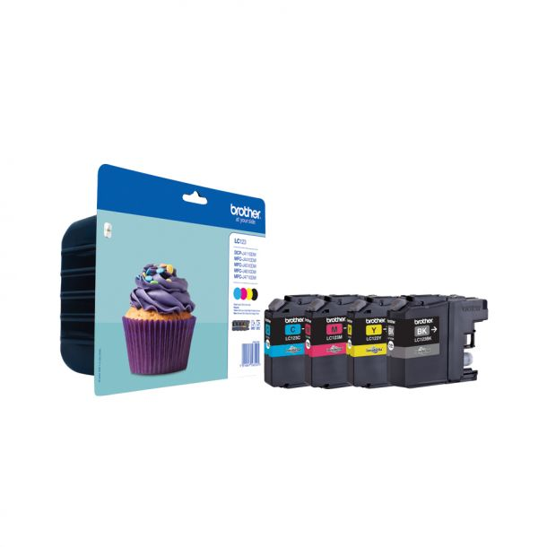 Brother Brother LC 123 Value Pack Sort Gul Cyan Magenta