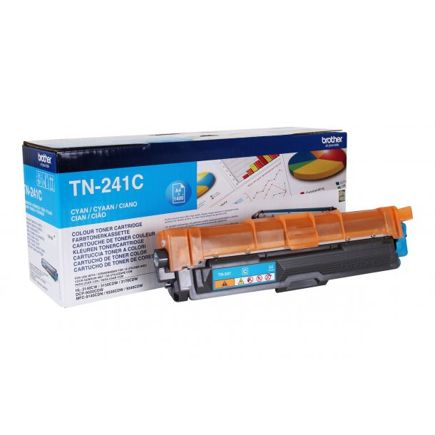 Brother TN 241C Cyan 1400 sider