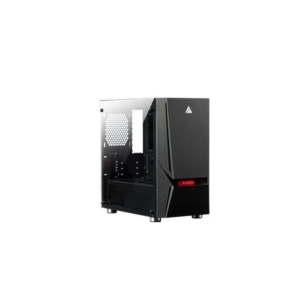 AZZA Luminous 110 RF1 Miditower Micro-ATX Ingen strømforsyning Sort