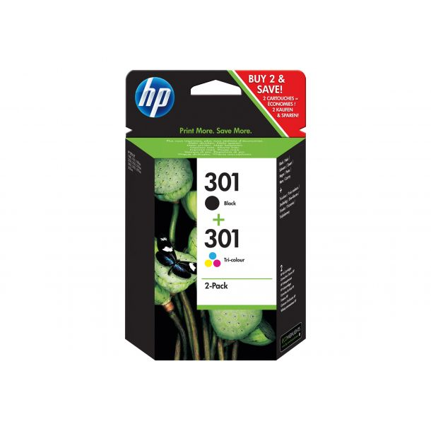 HP 301 Sort tricolor