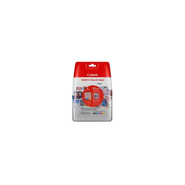 Canon CLI 571 XL /BK Photo Value Pack Sort Gul Cyan Magenta 500 sider